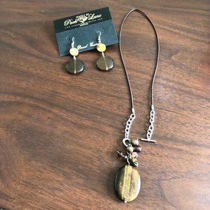 Park Lane Cat Eye Stone with matching earrings